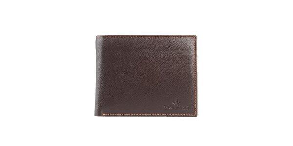 Prošívaná hnědá peněženka s kapsou na mince Brooksfield