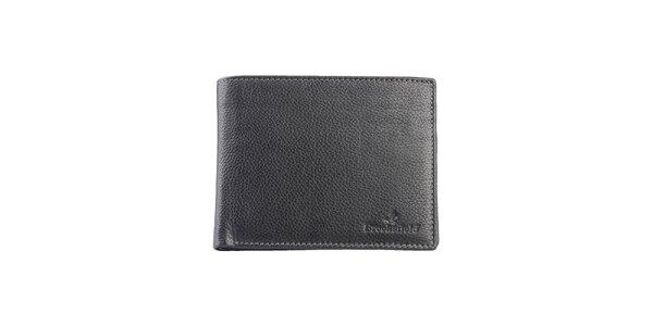 Prošívaná černá peněženka s kapsou na mince Brooksfield