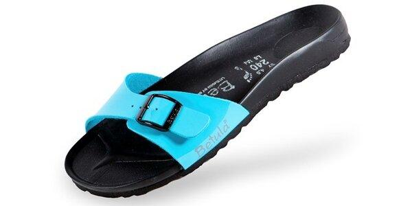 Dámské tyrkysově modré pantofle Betula