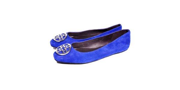 Semišové baleríny značky Hope 1967 námořnicky modré barvy