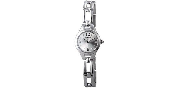 Dámské stříbrné náramkové hodinky Fossil