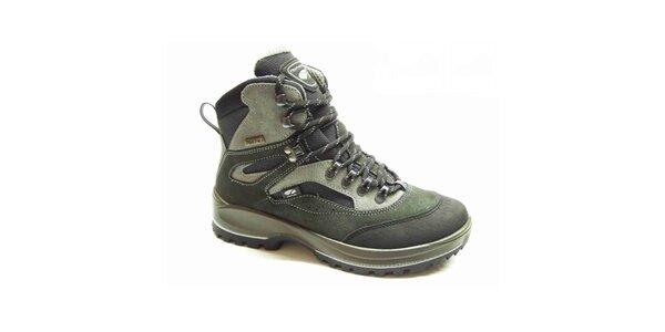 Pánské šedo-zelené trekové boty Numero Uno