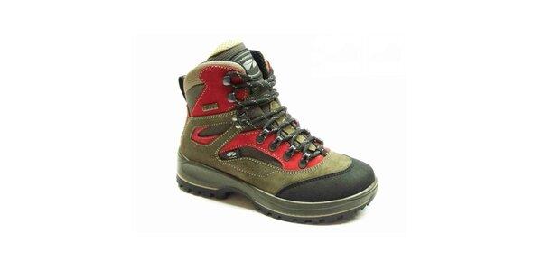 Dámské červeno-zelené trekové boty Numero Uno