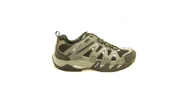Pánské šedo-černé trekové boty Numero Uno
