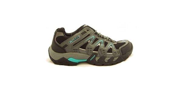 Dámské šedo-modré trekové boty Numero Uno