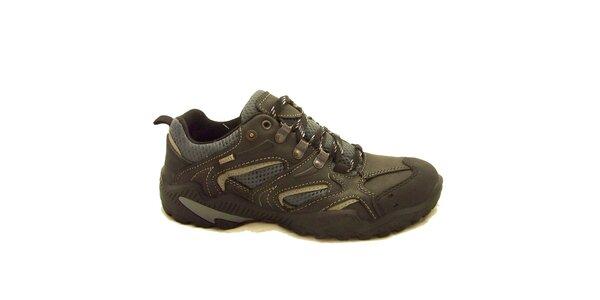 Pánské černo-šedé trekové boty Numero Uno