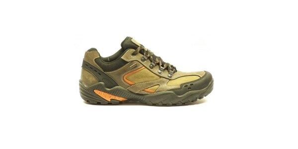 Pánské nízké trekové boty s oranžovými detaily Numero Uno