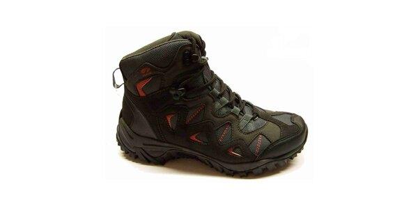 Dámské černé trekové boty s červenými detaily Numero Uno