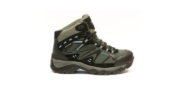 Dámské kotníkové trekové boty s modrými detaily Numero Uno