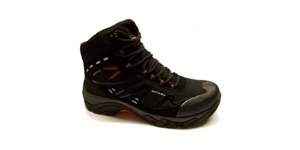 Pánské černé trekové boty s červenými detaily Numero Uno