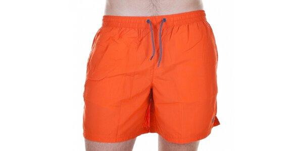Pánské krátké oranžové koupací šortky Emporio Armani