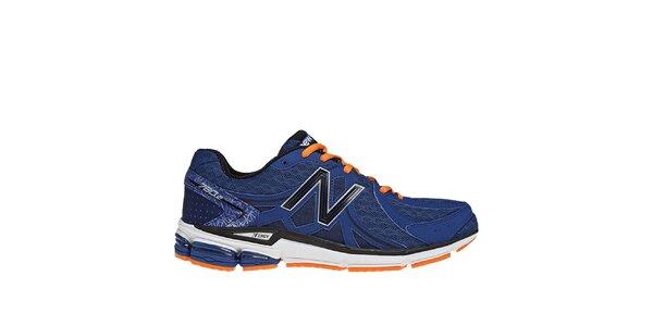Pánské modré běžecké boty s oranžovými detaily New Balance
