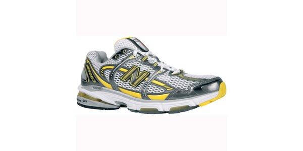 Pánské bílo-žluto-stříbrné běžecké boty New Balance