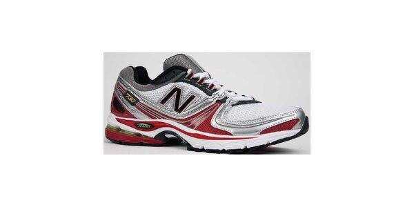 Pánské červeno-bílé běžecké boty New Balance