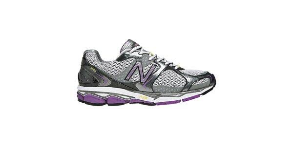Dámské fialovo-stříbrné běžecké boty New Balance