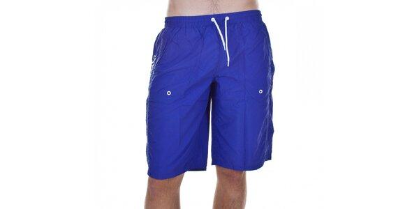 Pánské fialové koupací šortky Emporio Armani