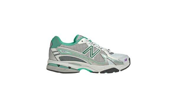 Dámské zeleno-bílé běžecké boty New Balance