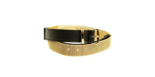 Dámský černo-zlatý pásek Miss Sixty