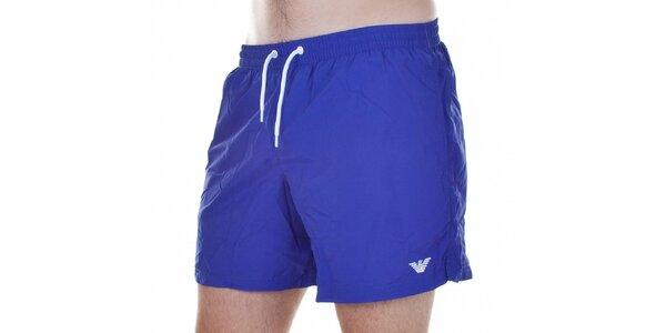 Pánské krátké fialové koupací šortky Emporio Armani