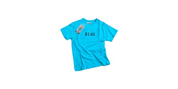 Pánské modré tričko s nápisem Dizzplay