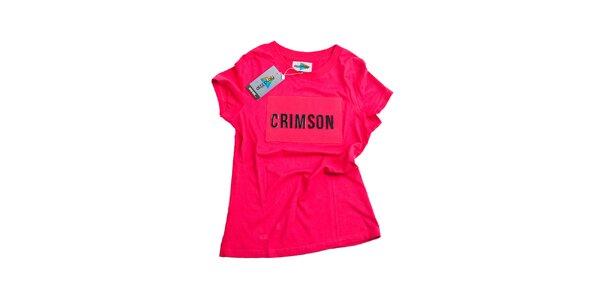 Dámské neonově růžové tričko Dizzplay