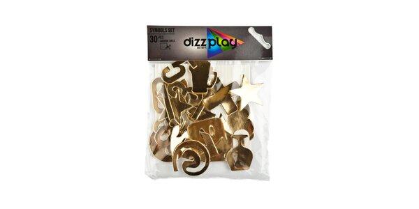 Zlaté nalepovací symboly na tričko Dizzplay