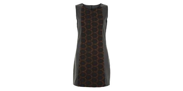 Dámské černo-hnědé šaty s kolečky Yumi