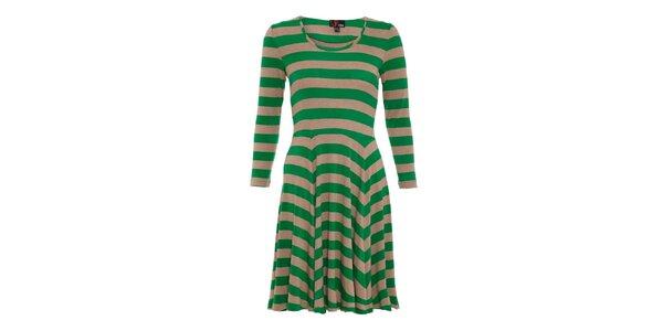 Dámské zeleně pruhované šaty Yumi