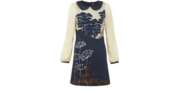Dámské tmavě modré šaty se sovou Yumi
