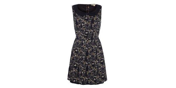 Dámské černé vzorované šaty bez rukávů Yumi