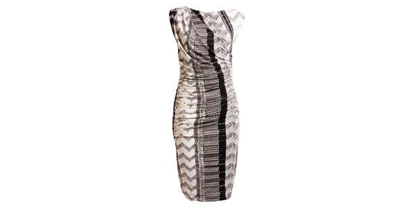 Dámské černo-bílé šaty s potiskem CeMe London