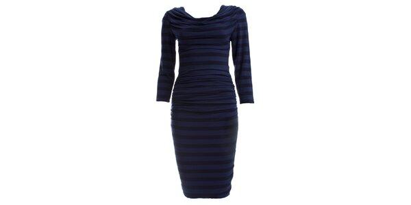 Dámské tmavě modré šaty se sklady CeMe London