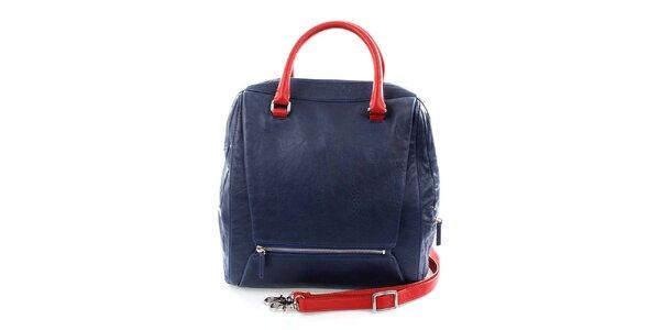 Dámská modro-červená kabelka DKNY