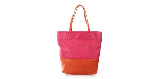 Dámská oranžovo-růžová kabelka DKNY