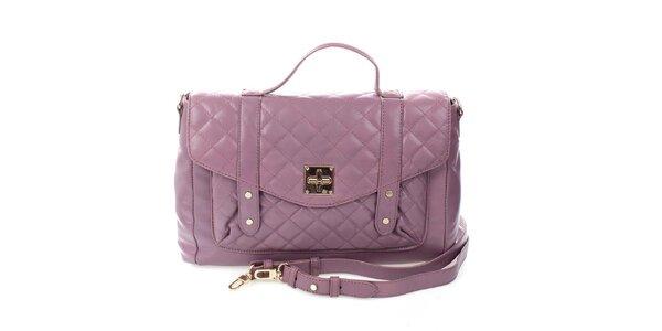 Dámská fialová prošívaná kabelka DKNY