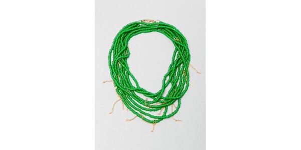 Dámský zelený korálkový náhrdelník Pietro Filipi
