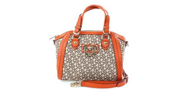 Dámská oranžovo-hnědá kabelka DKNY
