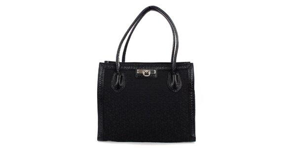 Dámská černá kabelka se zámečkem DKNY