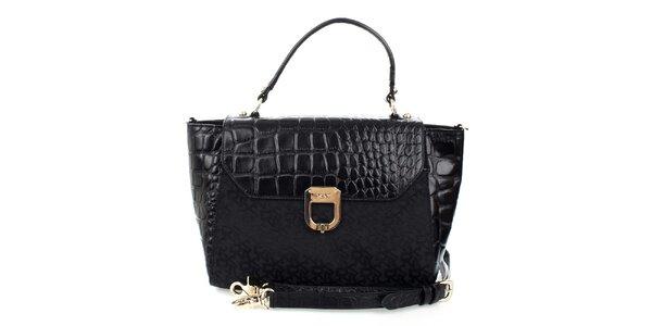 Dámská černá kabelka s monogramem DKNY