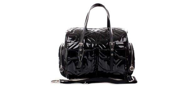 Dámská velká černá prošívaná kabelka DKNY