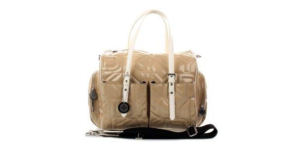 Dámská velká béžová prošívaná kabelka DKNY