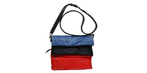 Dámská červeno-černo-modrá přeložitelná kabelka DKNY