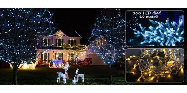10m LED řetěz s vánočními světly