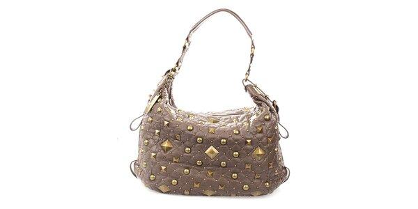 Dámská hnědá kabelka s cvočky DKNY