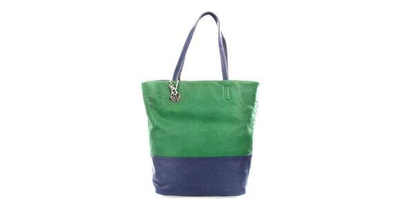 Dámská zeleno-modrá kabelka DKNY