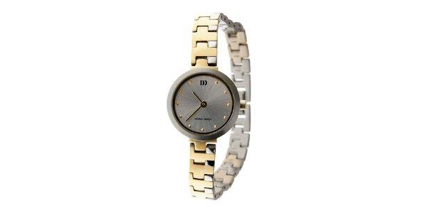Dámské titanové hodinky Danish Design se zlatými detaily