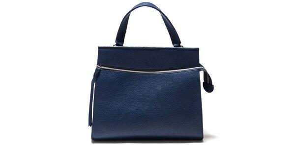 Dámská modrá kabelka s horizontálním zipem Isabella Rhea