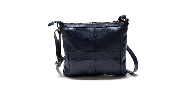 Dámská modrá kabelka přes rameno se zlatými komponenty Isabella Rhea