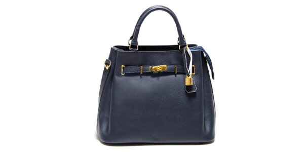 Dámská modrá kabelka se zámečkem Isabella Rhea