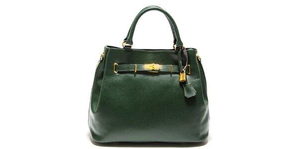 Dámská zelená kabelka se zámečkem Isabella Rhea